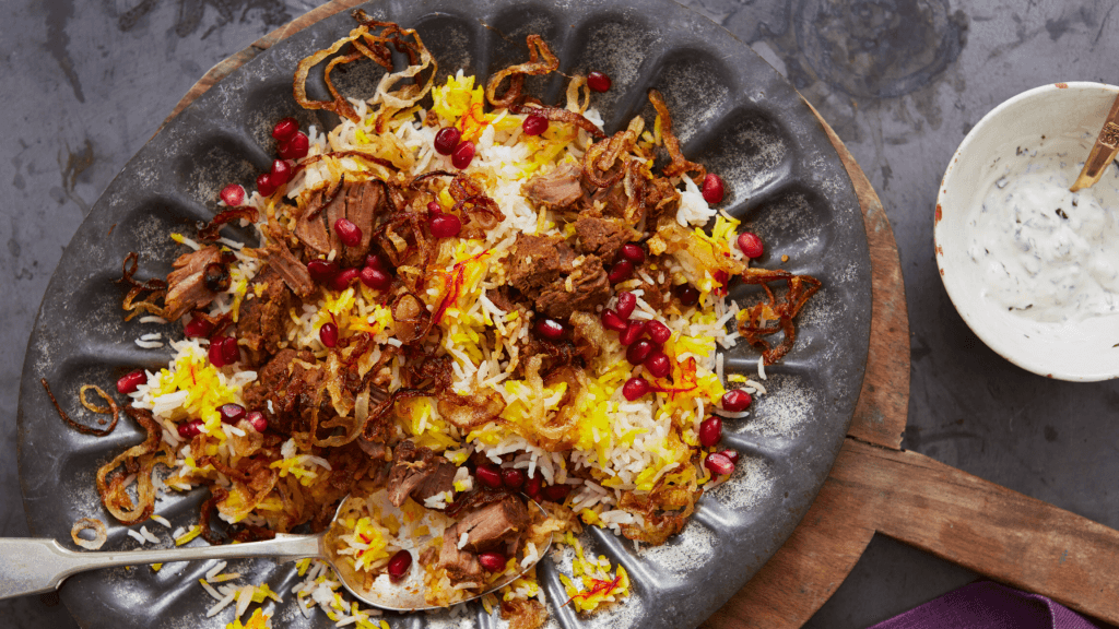 Cheat's Lamb biryani