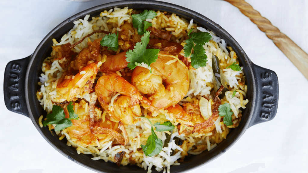 Mouth-watering Malabar Prawn Biryani
