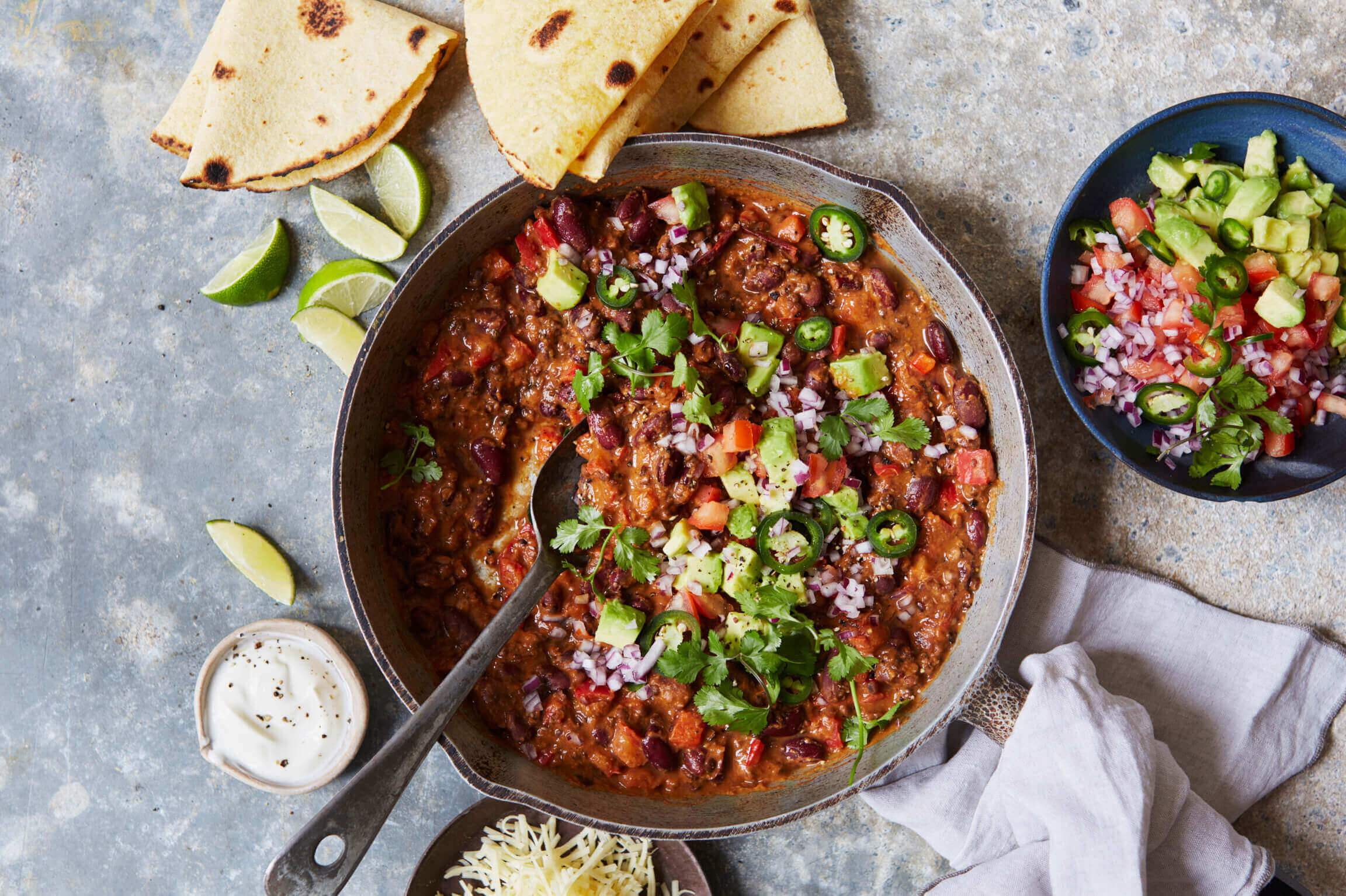 10-Minute Lentil and Bean Chilli