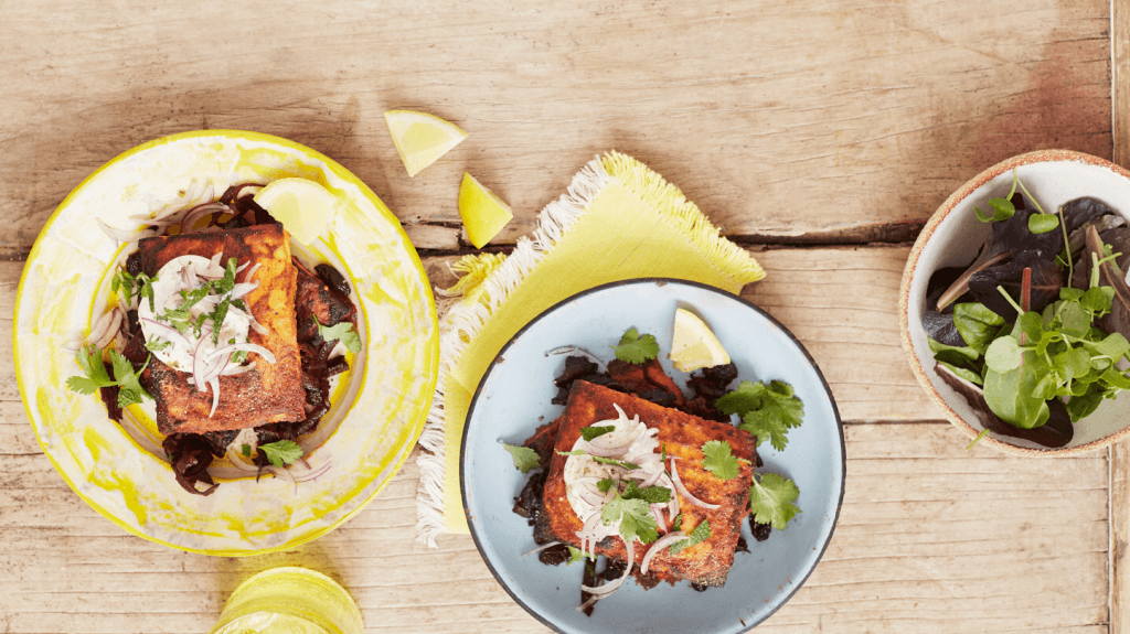Classic Tandoori Paneer Stuffed with a Beetroot and Raisin Filling