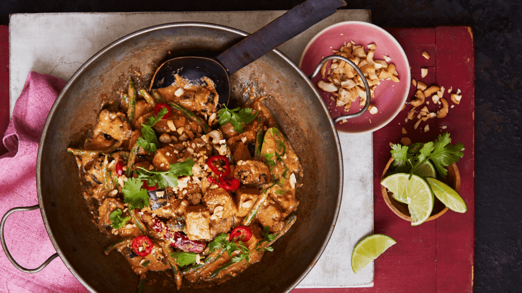 Thai Massaman Curry with Aubergine and Tofu