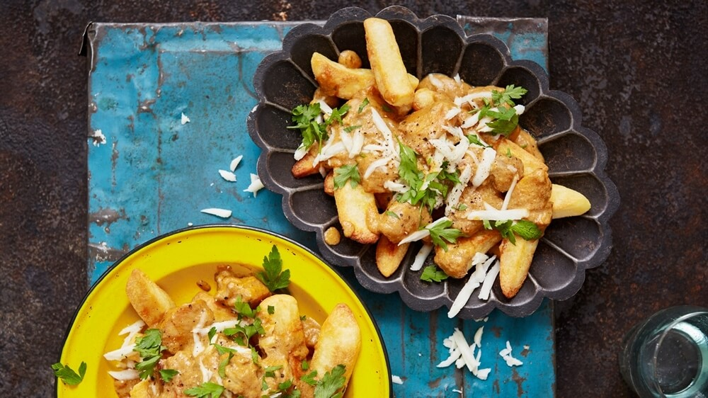 The Ultimate Korma Curry on Chips