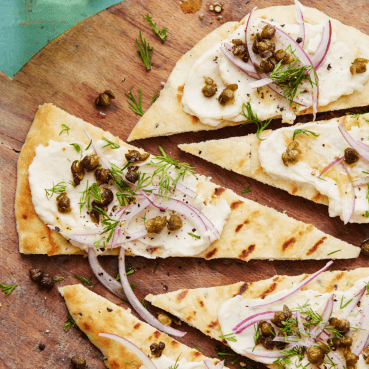 Creamy Cannellini-Bean Topped Grilled Naan