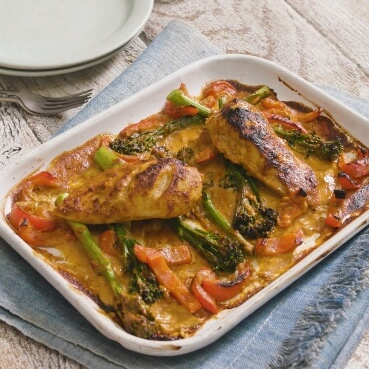 Thai Massaman Chicken Tray Bake