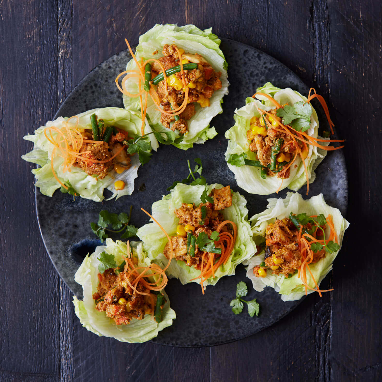 Crunchy Rendang Vegetable Lettuce Wraps