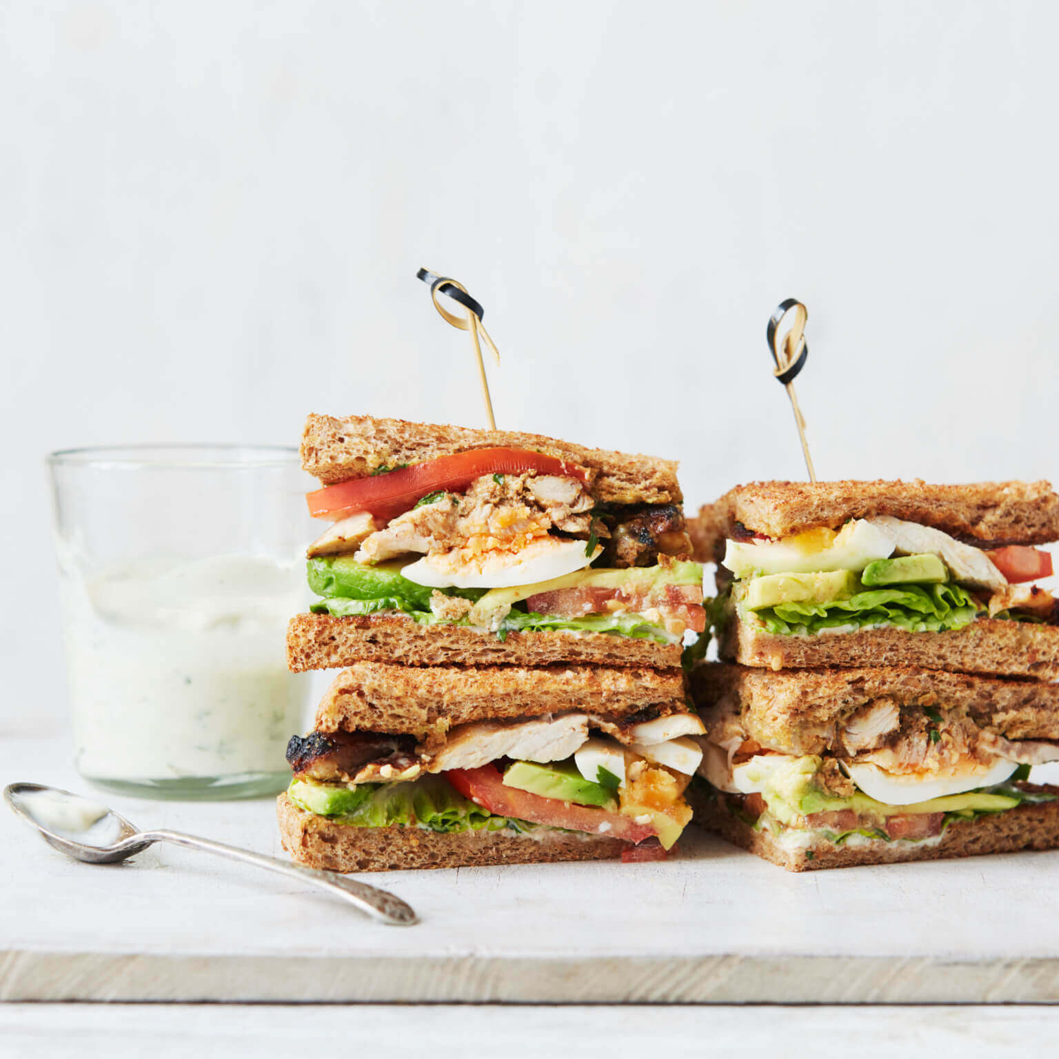 Tandoori Chicken Club Sandwich