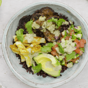 Tandoori Mushroom Buddha Bowl with Black Rice