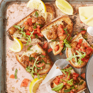 Hot Spiced Chickpea Bruschetta With Fresh Tomato