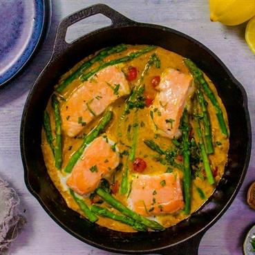 One-Pot Salmon and Asparagus Korma