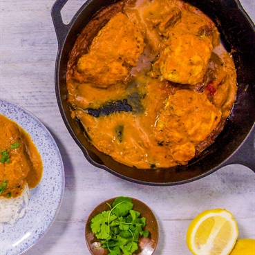 Pan-Fried Tomato Fish Curry